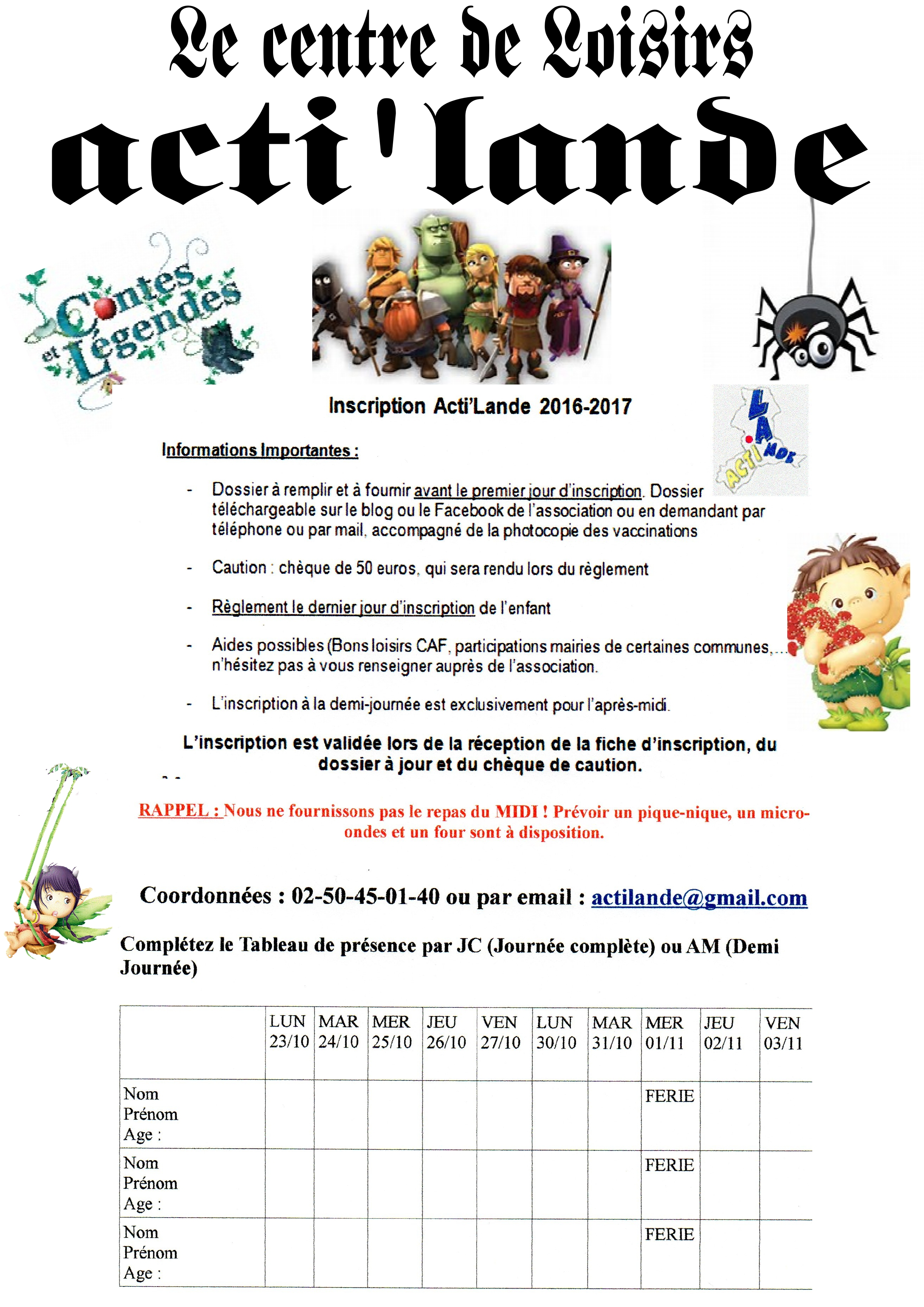Vacances de la toussaint 2017 du 23 octobre au 03 novembre actilande - Vacances toussaint 2017 rennes ...
