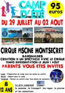 affiche cirque piscine montsecret 2019